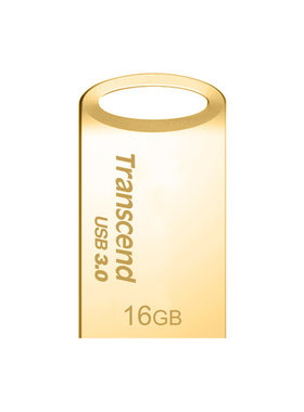 Флаш памет Transcend 16GB JetFlash 710 USB 3.1/3.0, read-write: up to 90MBs, 12MBs, Gold Plating