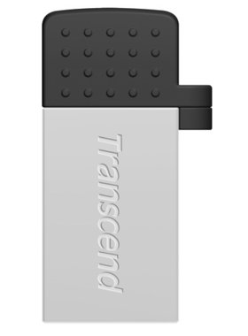 Флаш памет Transcend 16GB JetFlash 380 USB On-The-Go for ANDROID, Silver Plating