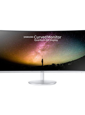 "Monitor Samsung C34F791W Curved 34"" LED, WQHD (3440x1440) 100Hz, Brightness: 300cd/m2, Contrast: 3000:1, Response time: 4ms, Viewing Angle: 178°/178° , 2xHDMI, DP, USB, Stereo Speakers, Glossy White"