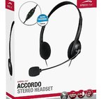 СЛУШАЛКИ С МИКРОФОН  Speedlink Accordo Ultra Lightweight Stereo Pc Headset With Microphone, 3.5mm Jack, Black Sl-870003-bk